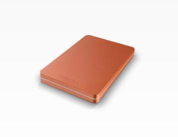 Toshiba externe harde schijf Canvio Alu 500GB rood