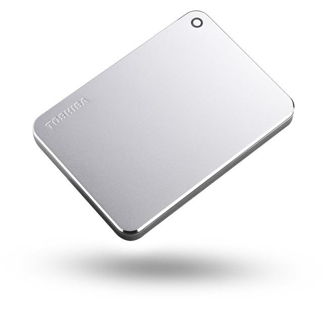 Toshiba externe harde schijf Canvio Premium 1TB zilver