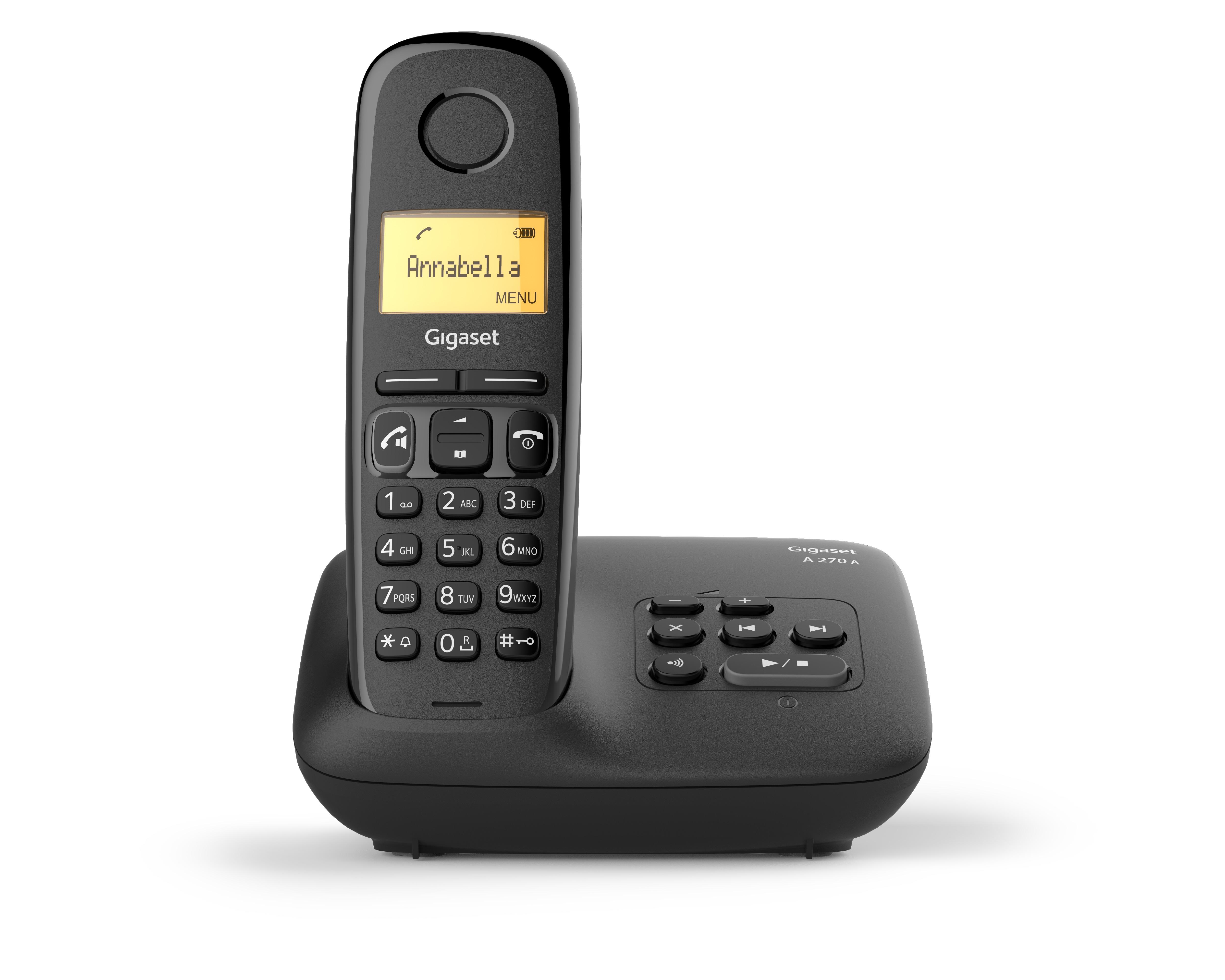 Gigaset A270A DUO Dect telefoon Zwart