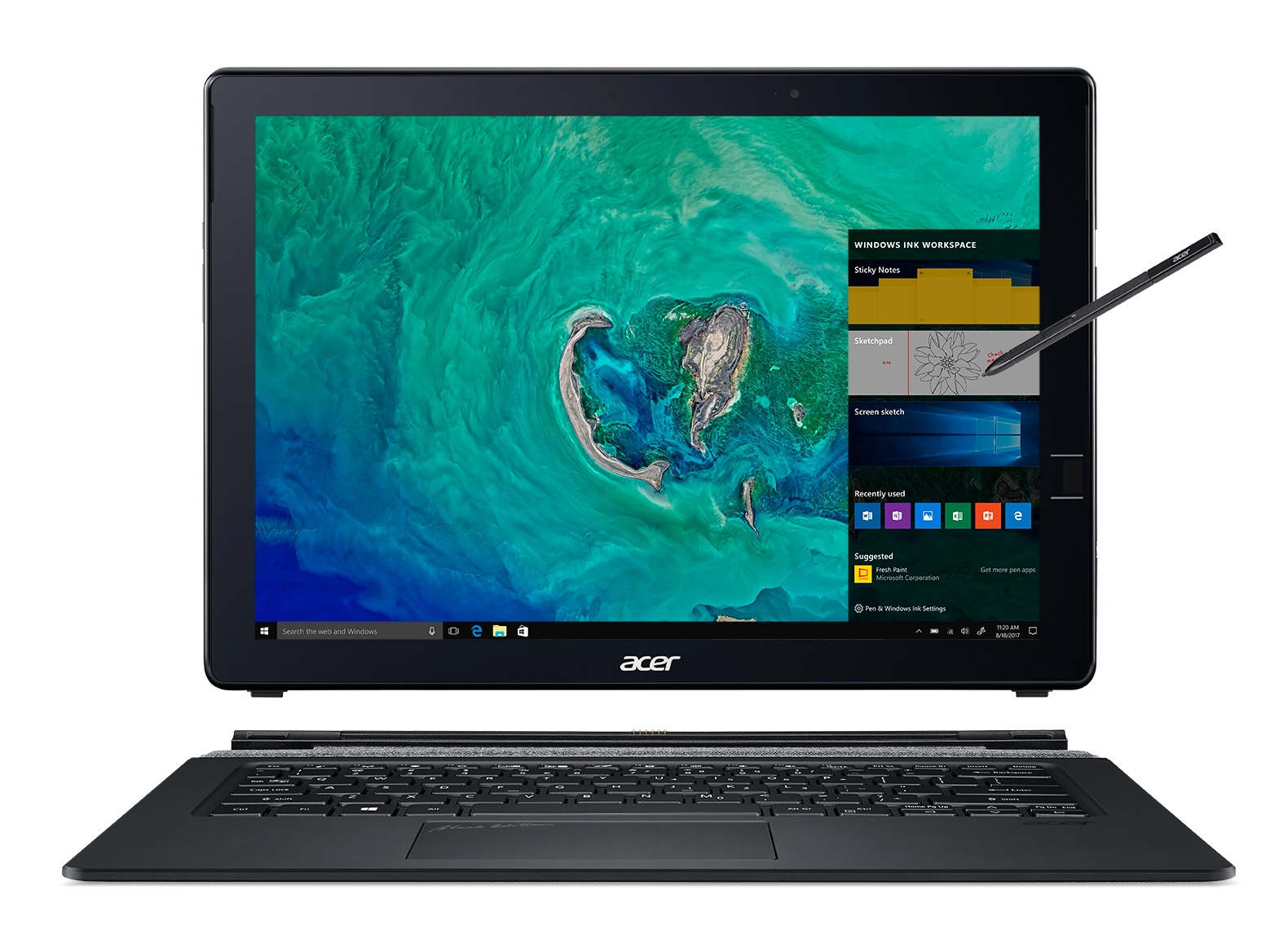 Afbeelding van Acer 2-in-1 laptop Switch 7 Black Edition SW713-51GNP-80KQ NT.LEPEH.002 grijs