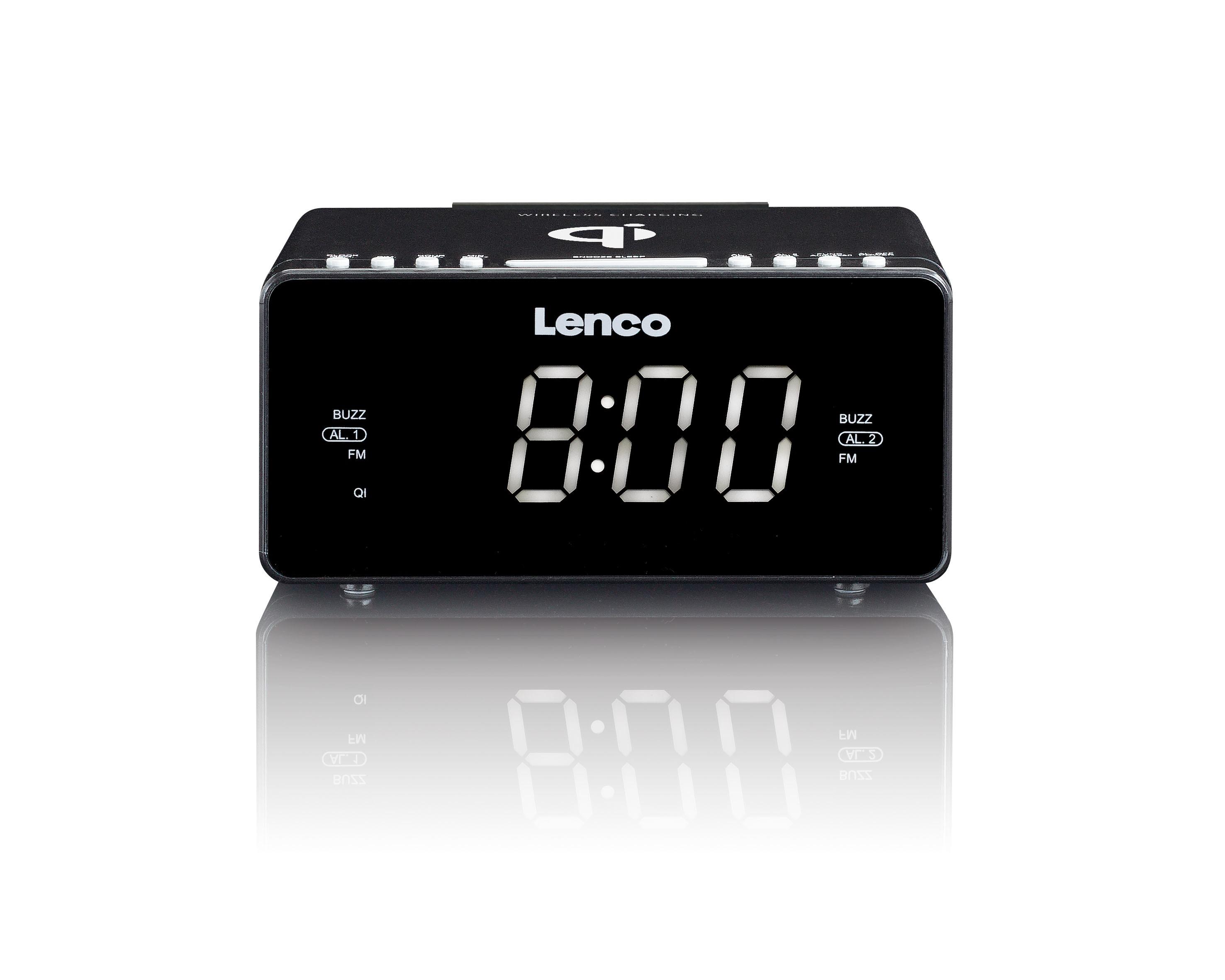 Lenco wekker radio CR 550 zwart