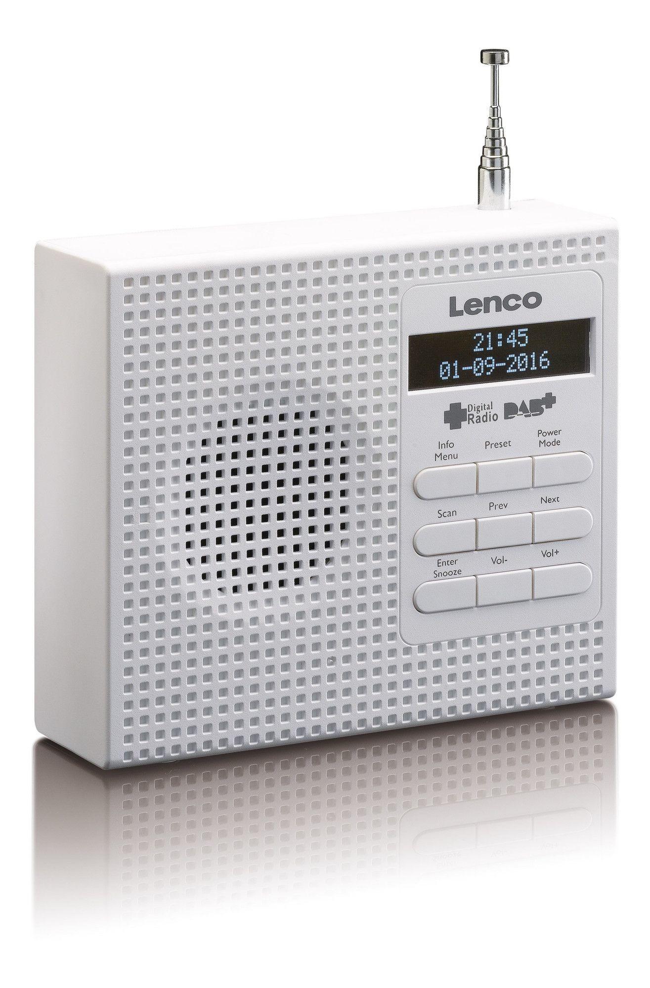 Lenco PDR-020 DAB radio Wit
