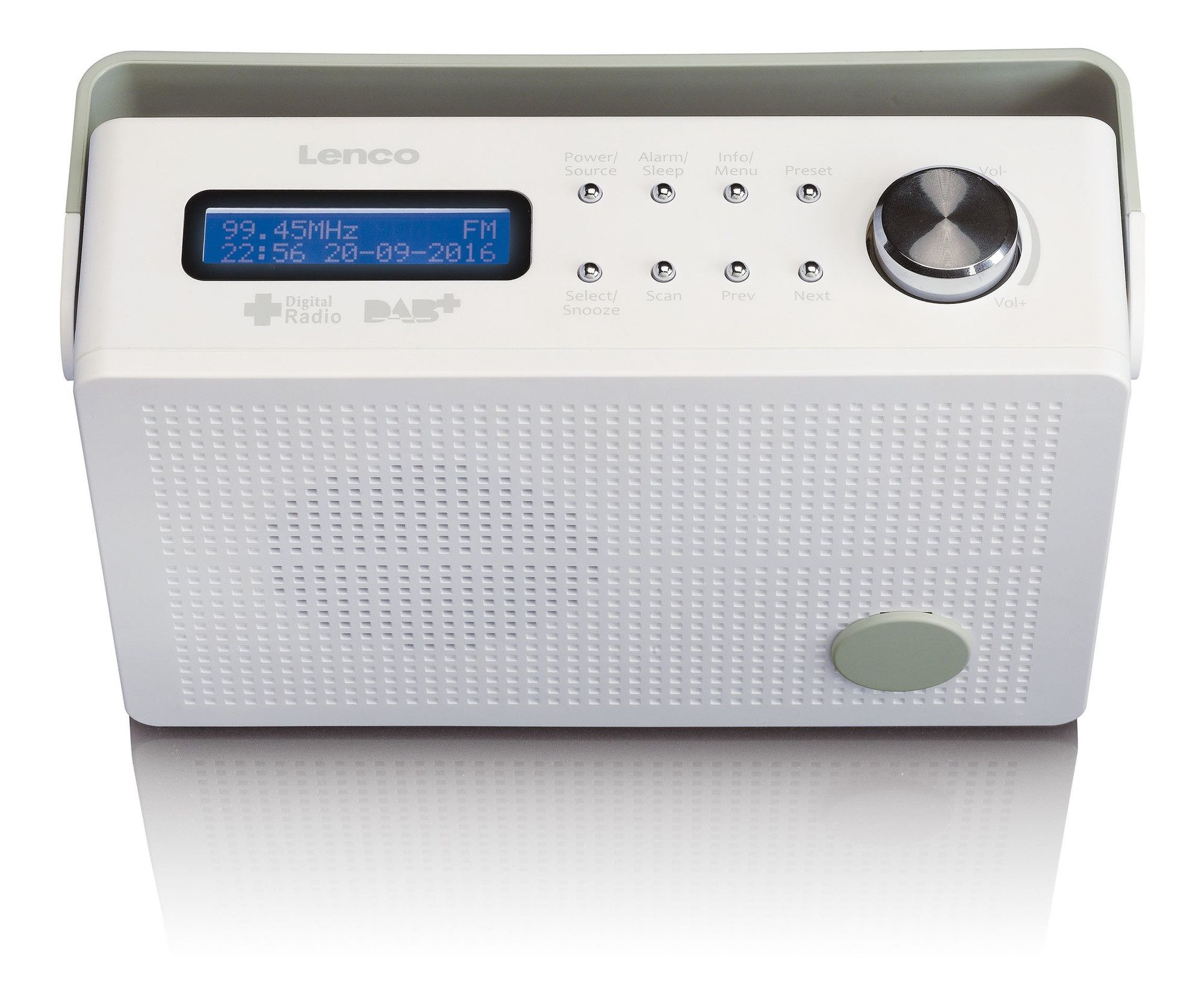 Lenco PDR-030 DAB radio Wit