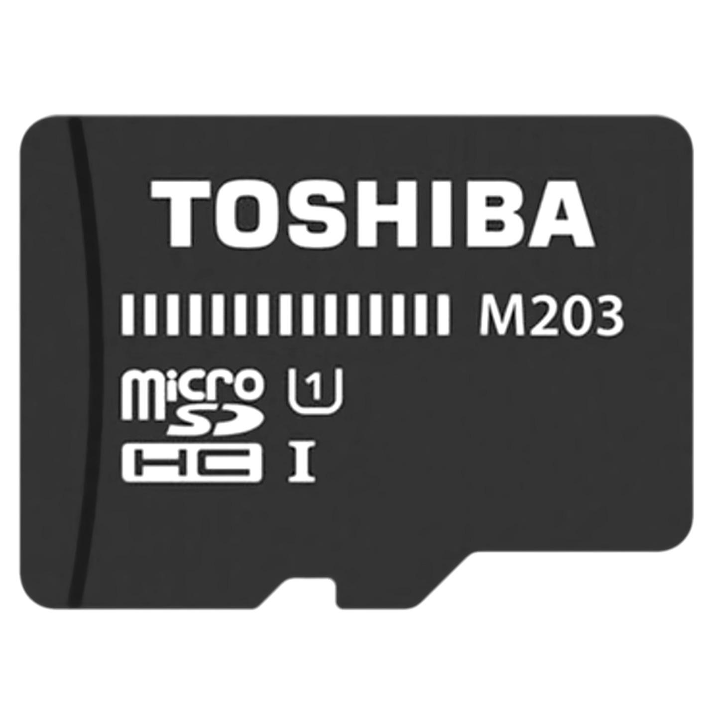 Toshiba micro sd kaart MicroSD Class 10 High Speed M203 32GB zwart