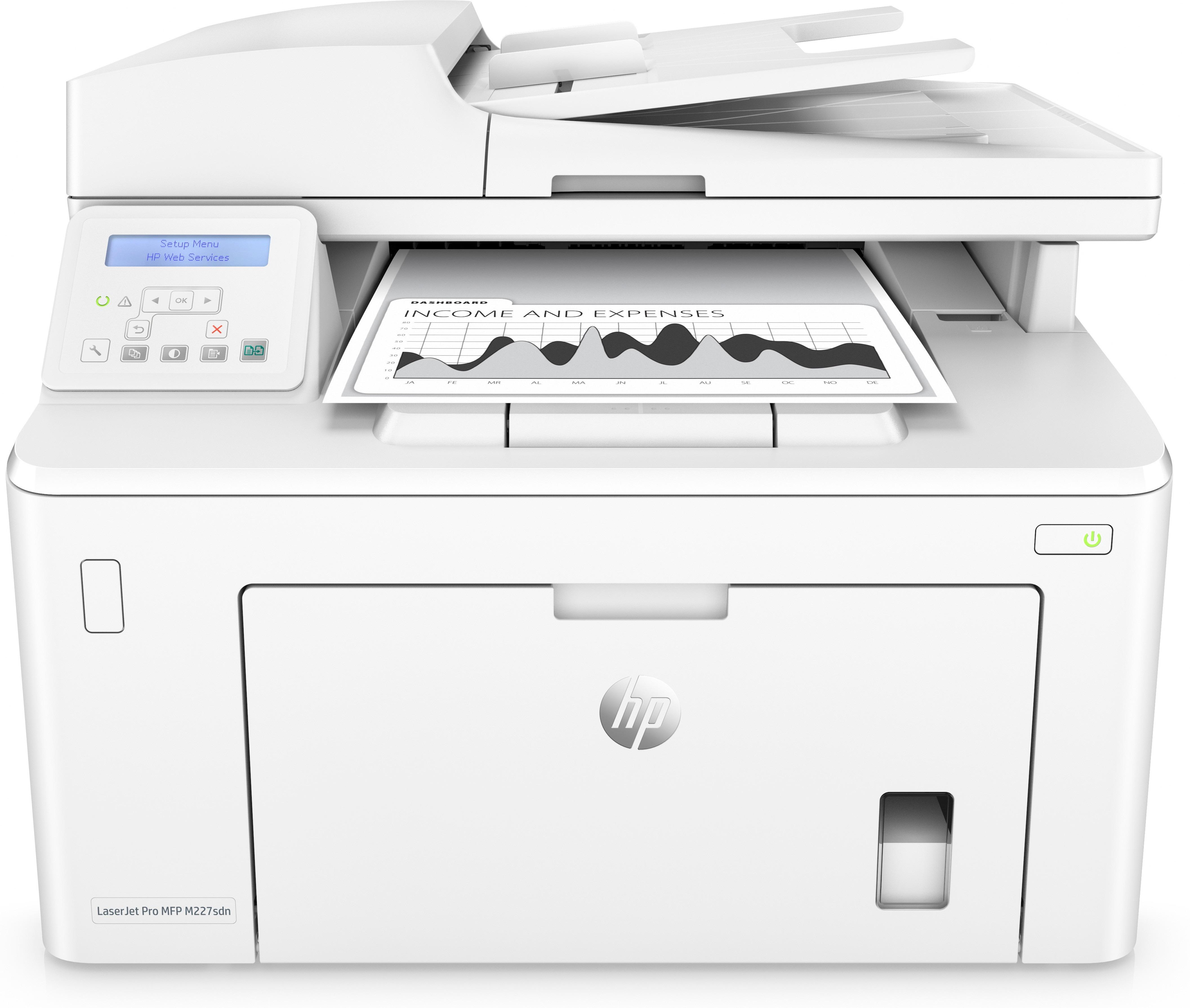 HP LaserJet Pro MFP M227SDN All-in-one laser printer
