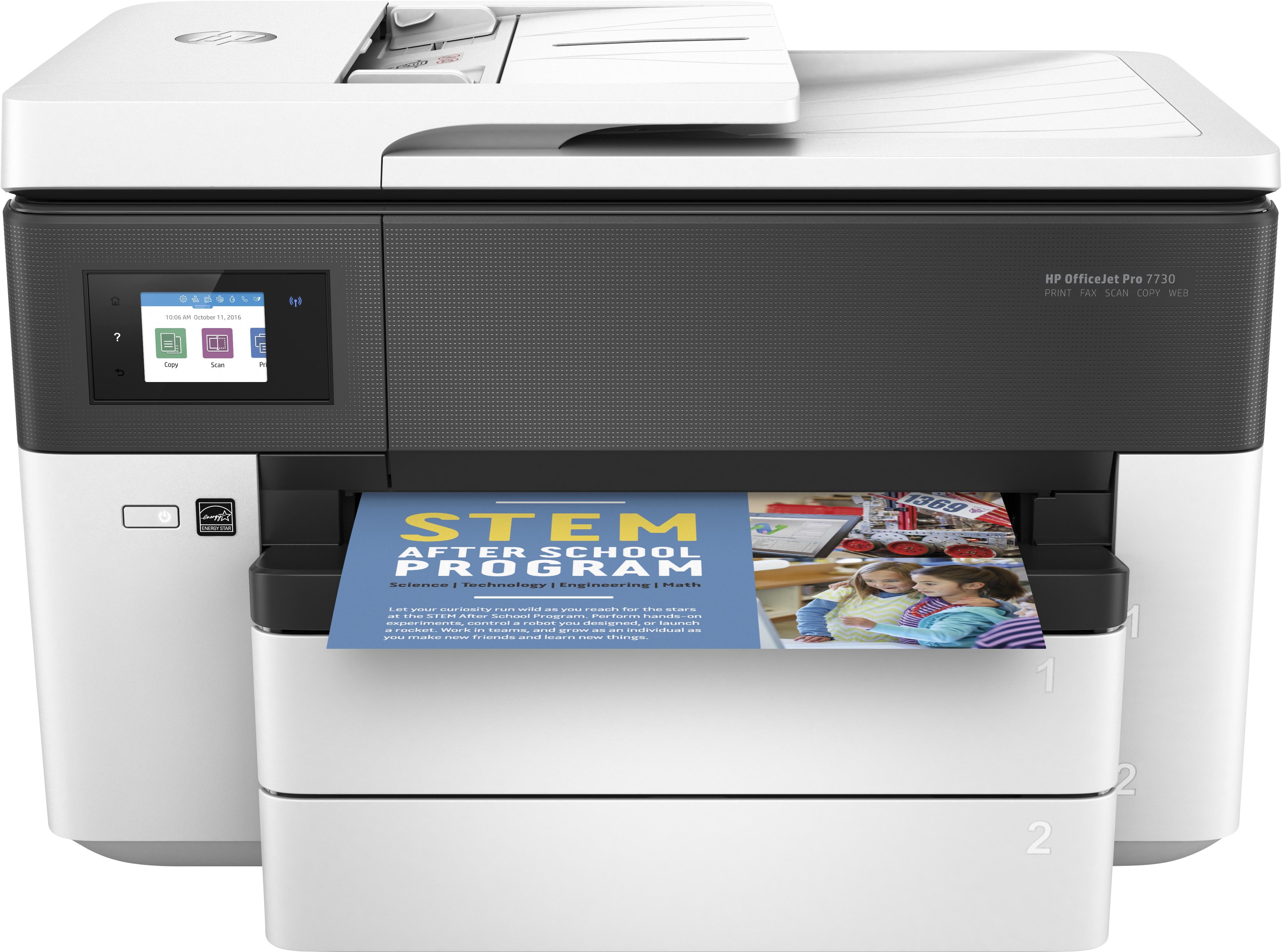 HP Officejet Pro 7730 A3 All-in-one inkjet printer Zwart