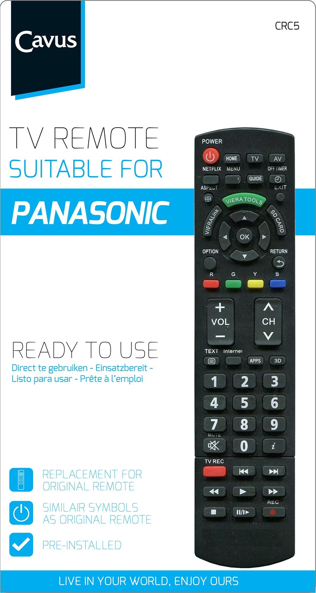 Cavus TV afstandsbediening voor Panasonic Afstandsbediening