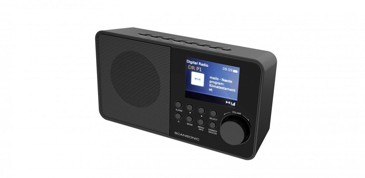 Scansonic dab radio DA220 zwart