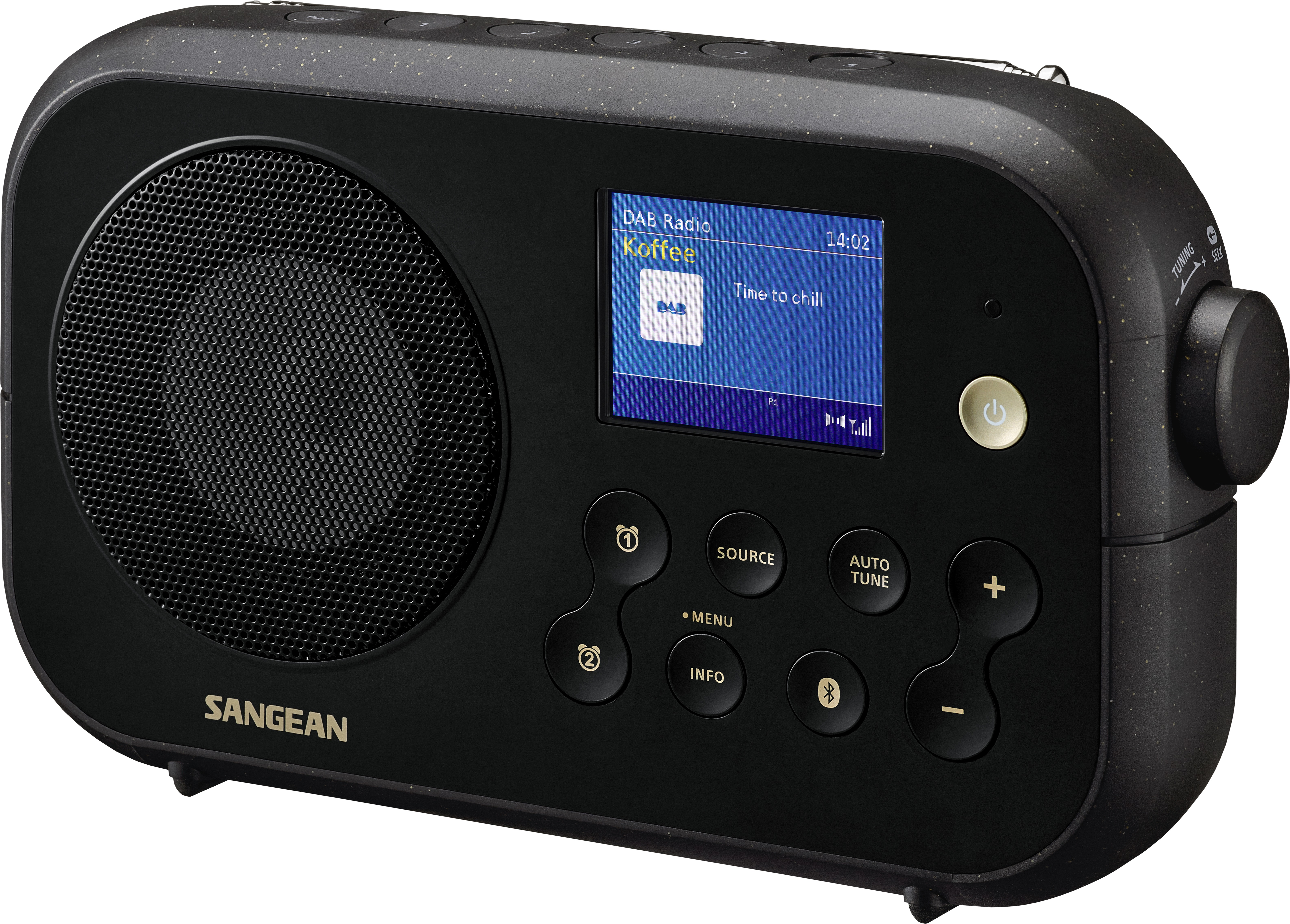 Sangean DPR-42 BT Audio Zwart
