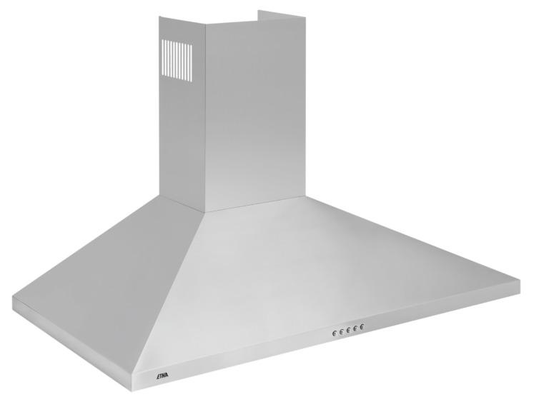 Etna AP290RVS Schouwkap Aluminium
