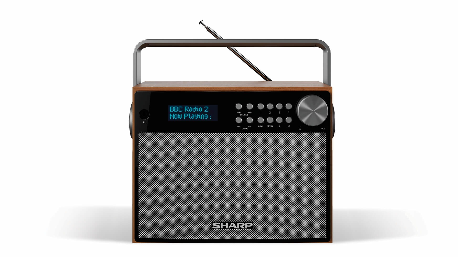 Sharp dab radio DRP350 zwart