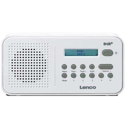 Lenco PDR-015 DAB radio Wit