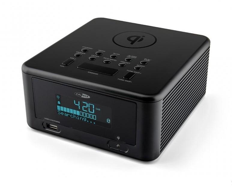 Caliber wekker radio HCG010QIDAB BT zwart