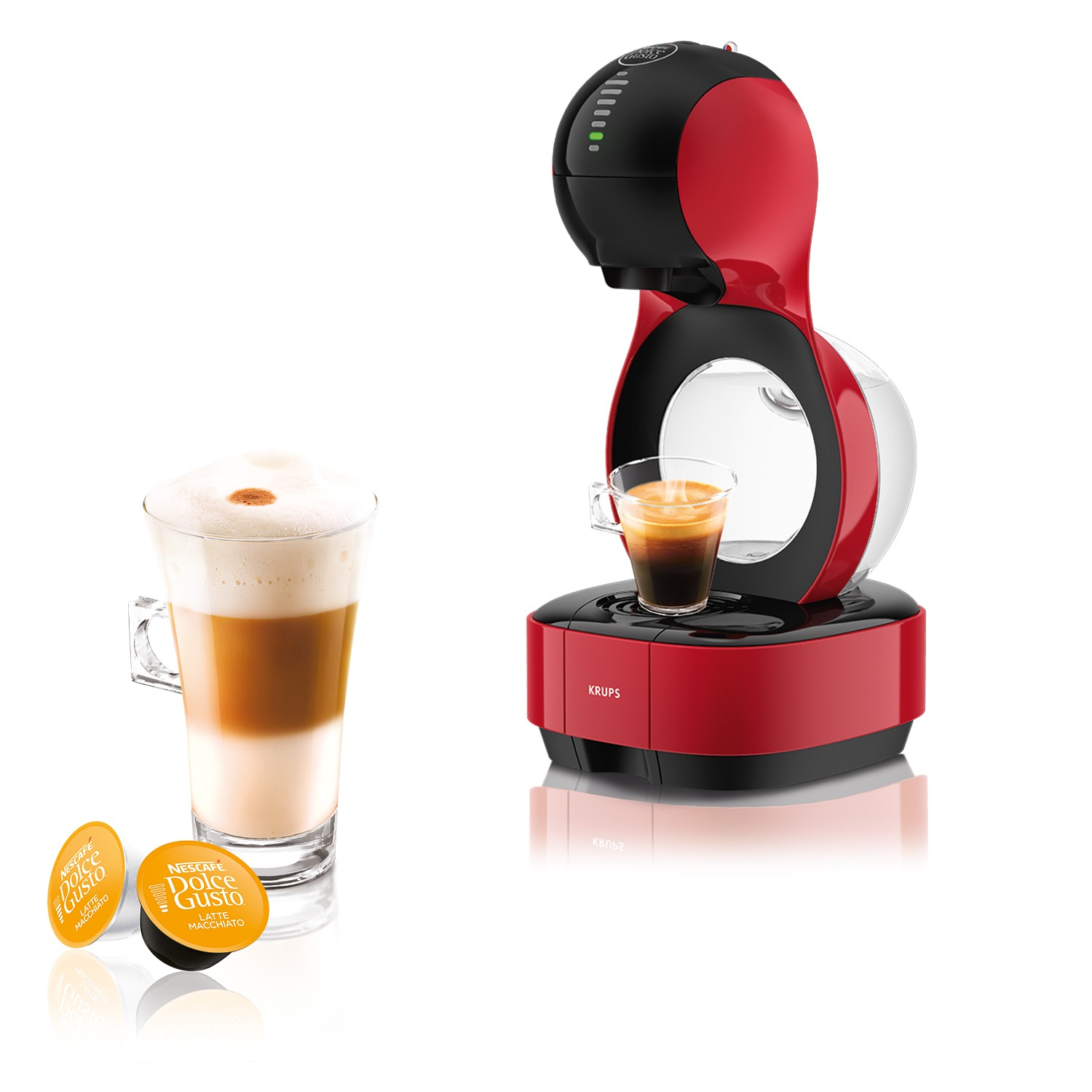 Krups KP1305 Dolce Gusto Lumio Espresso apparaat Rood