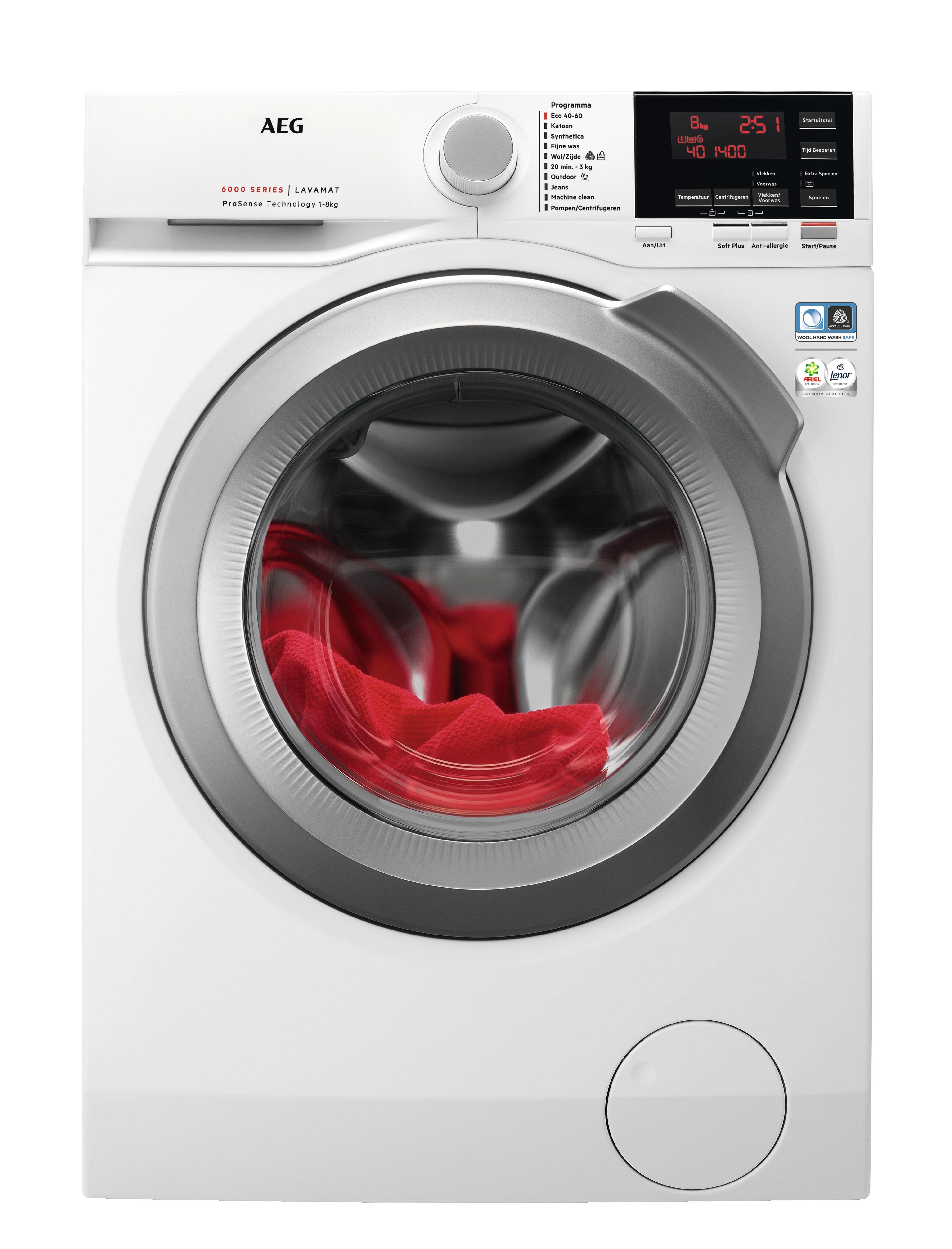 AEG L6FBKOLN ProSense Wasmachine Wit