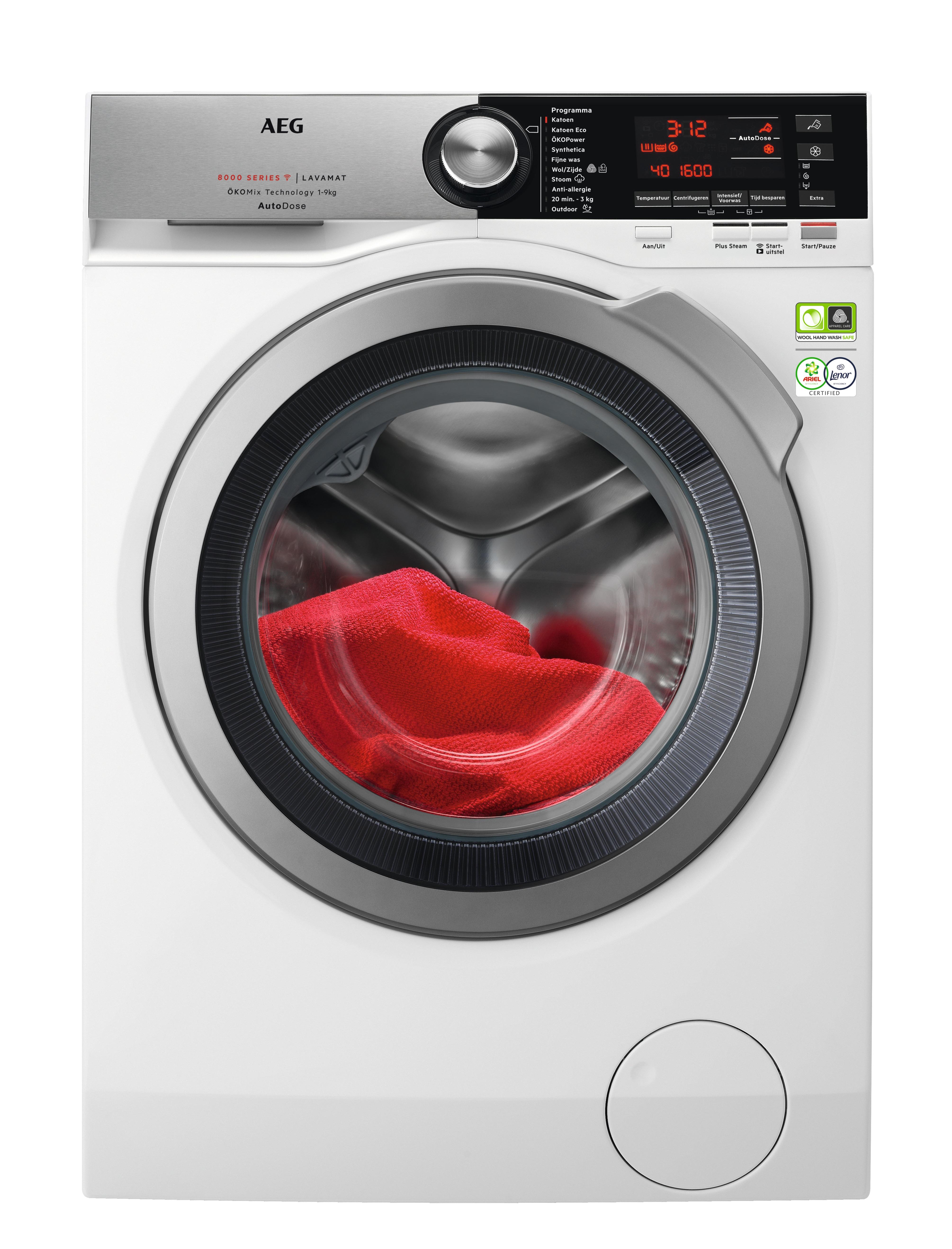 AEG L8FEN96CQ OKOMix AutoDose Wasmachine Wit