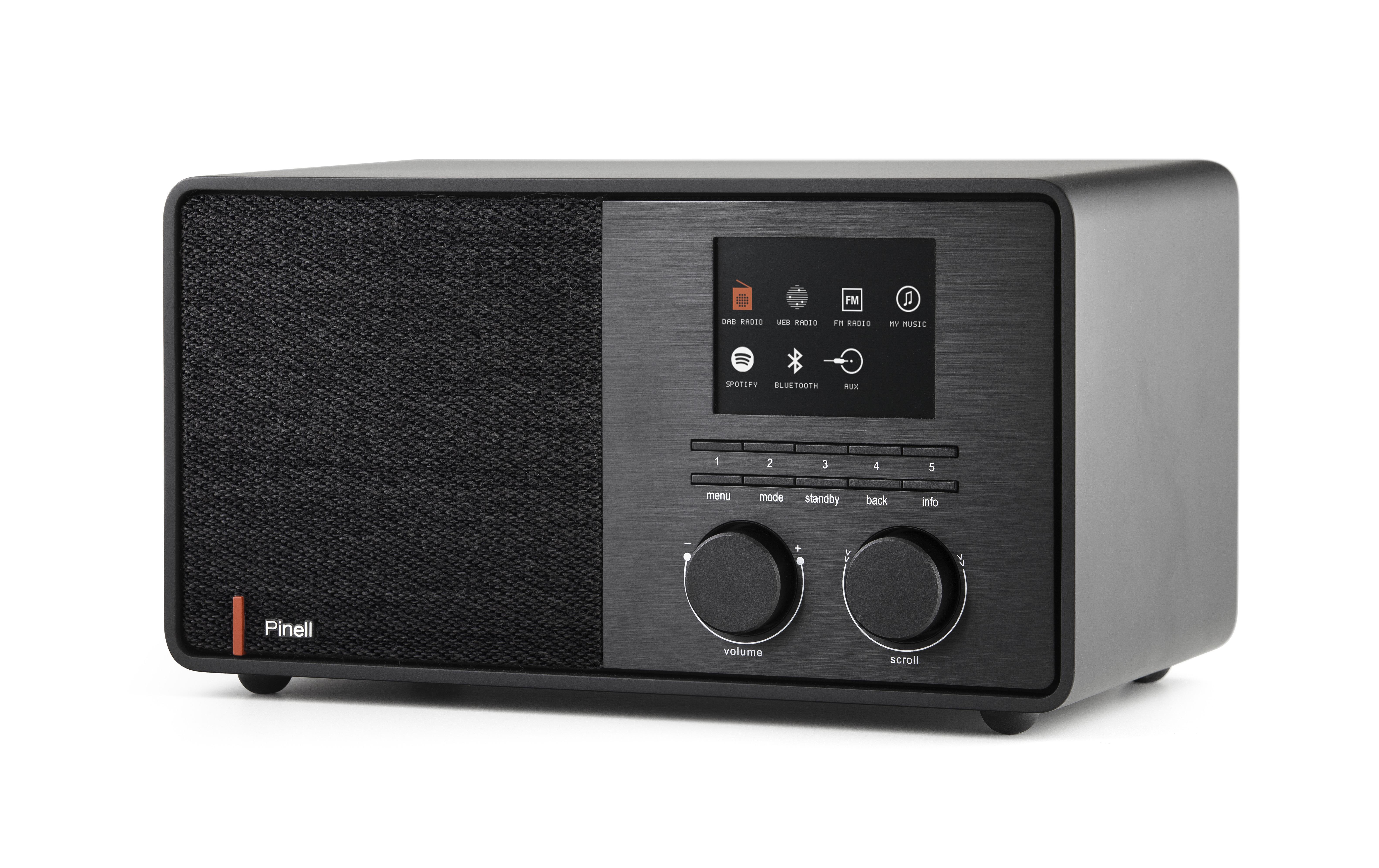 Pinell dab radio Supersound 301 zwart