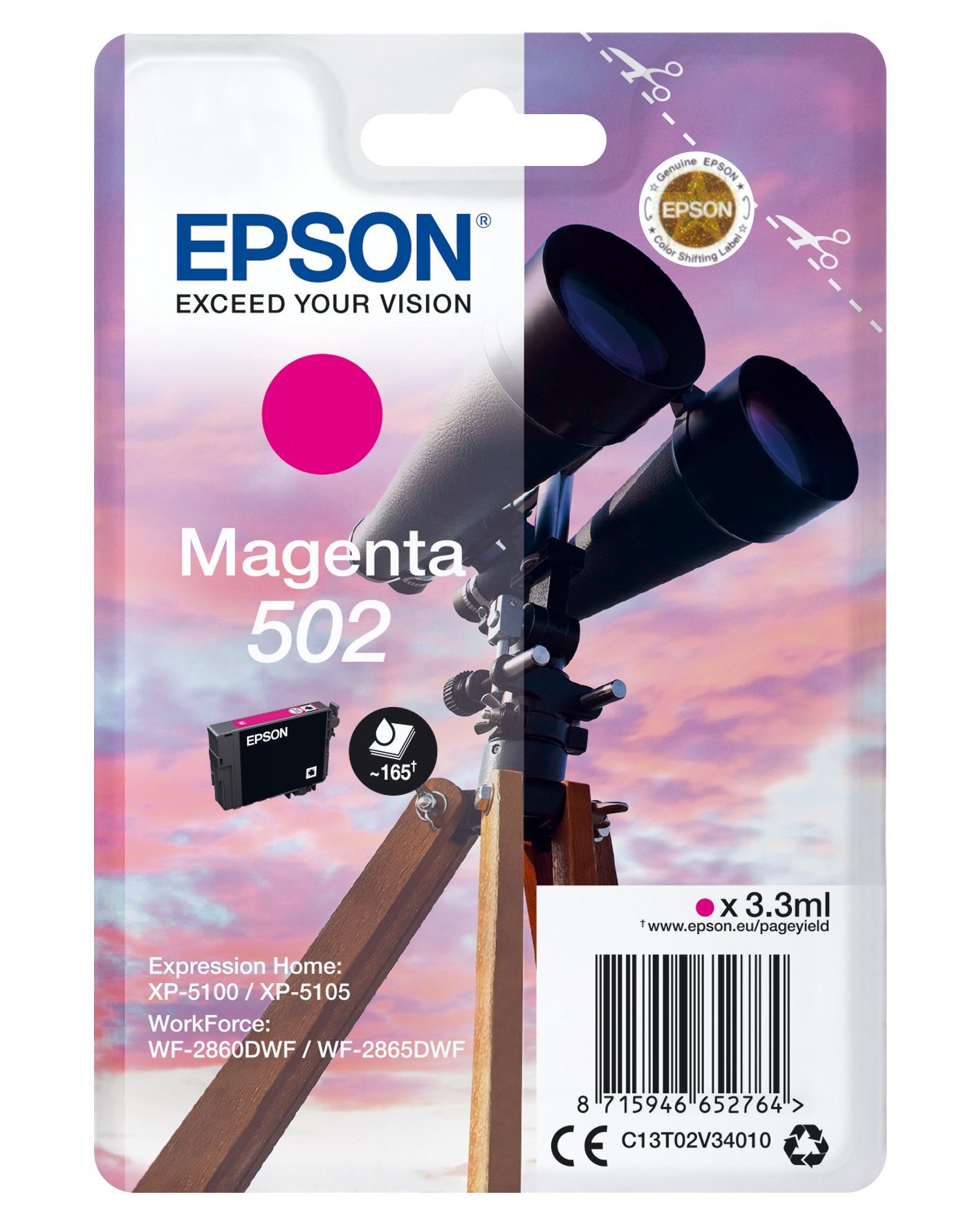 Korting Epson 502 magenta 3.3 ml verrekijker inkt
