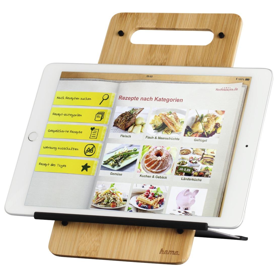 Hama Tablet stand timber 7 - 10.5 Tablethouder Bruin