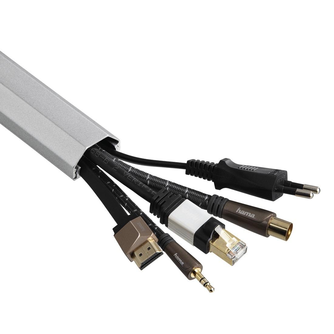 Hama tv accessoire Kabelgoot hoekig aluminium 1.1 meter zilver