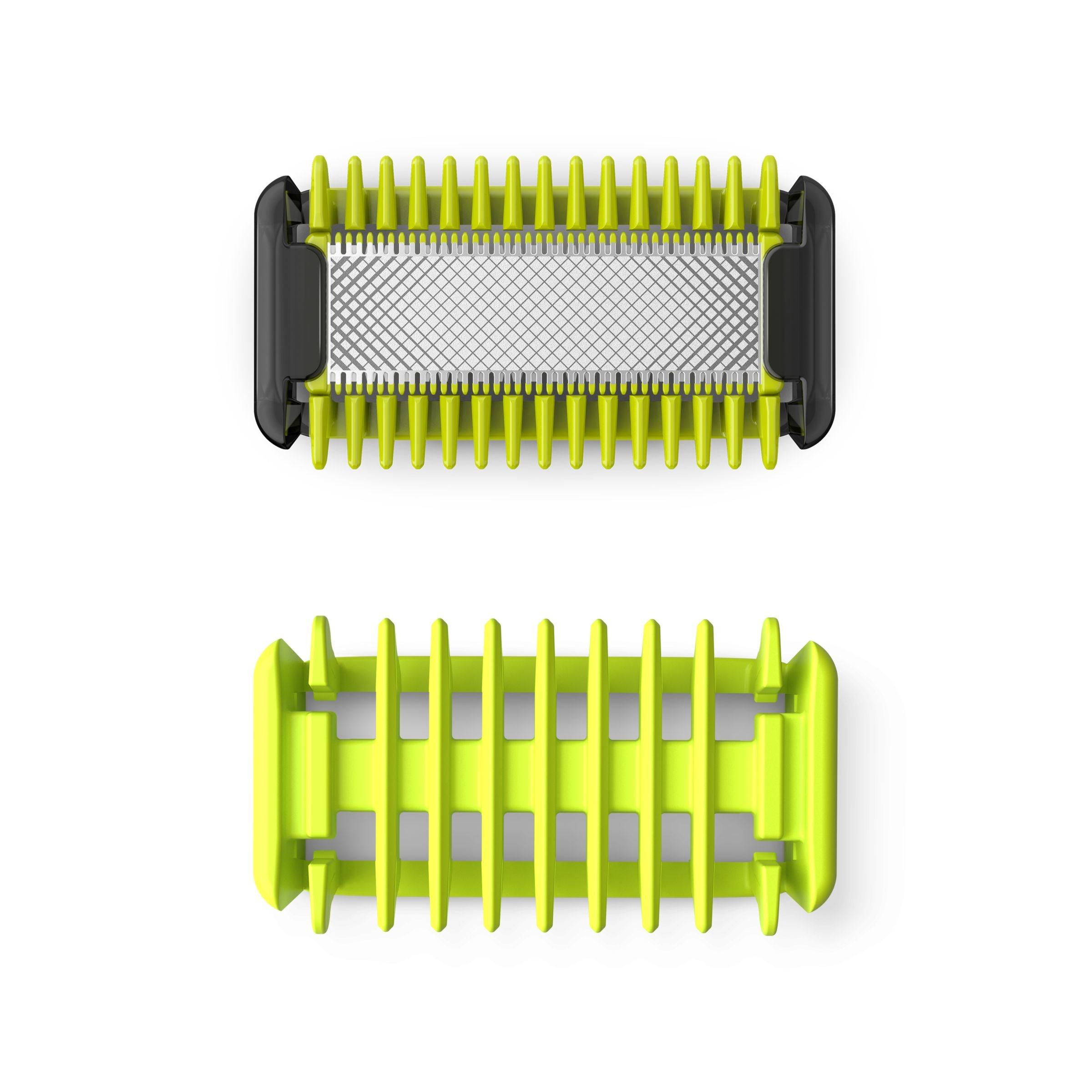 Korting Philips OneBlade vervangbaar scheermesje plus lichaamskam scheerhoofden