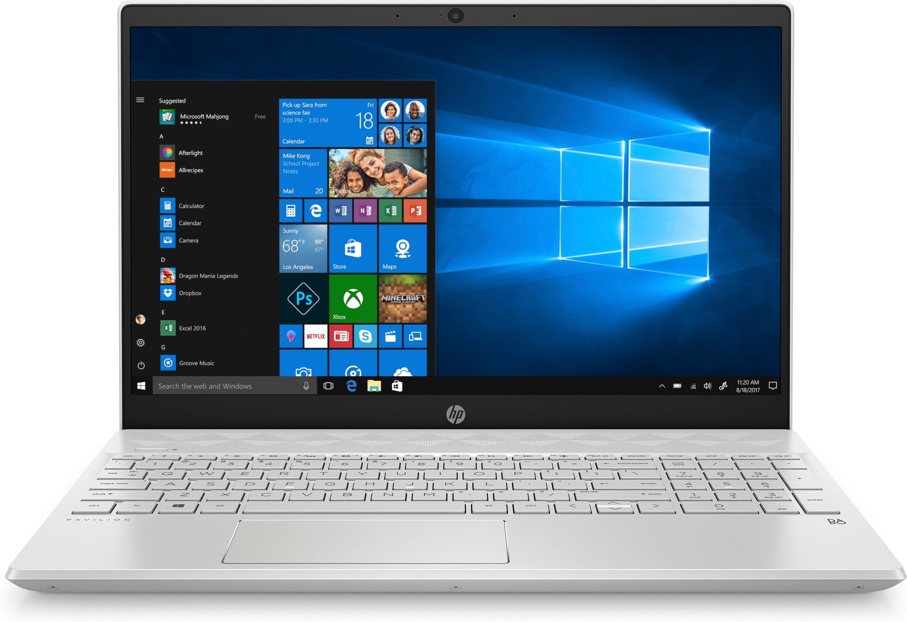 HP laptop Pavilion 15-cs2595nd - GeForce GTX 1050, 16 GB RAM, 512 GB SSD, 15.6 inch