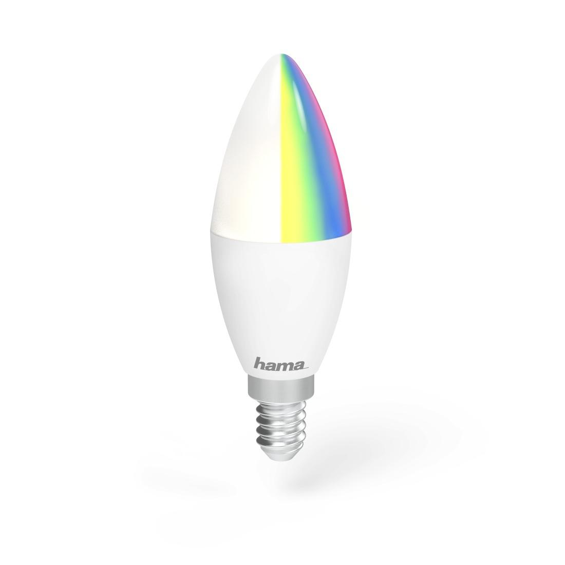 Hama Wifi-ledlamp, E14, 4,5W, RGB, dimbaar Smartverlichting