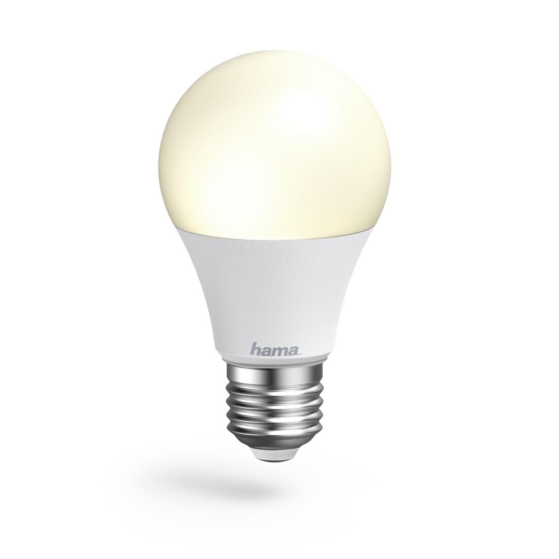 Hama Wifi-ledlamp, E27, 10W, , dimbaar Smartverlichting Wit