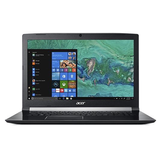 Acer laptop Aspire 7 A717-72G-72DQ, GeForce GTX 1050, 8 GB RAM, 512 GB SSD, 1 TB HDD, 17.3 inch