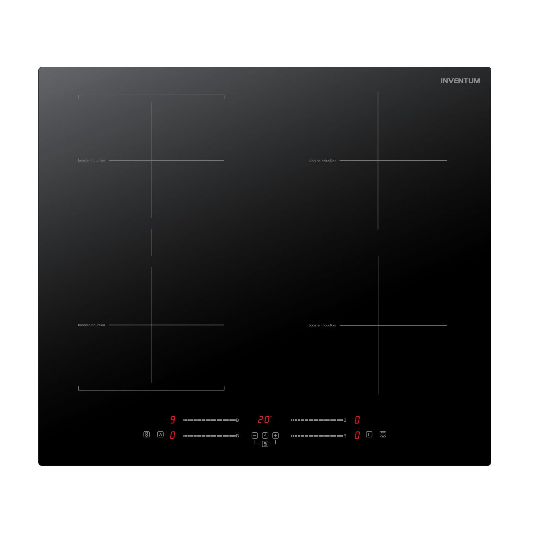 Inventum IKI6035 Inductie inbouwkookplaat Zwart