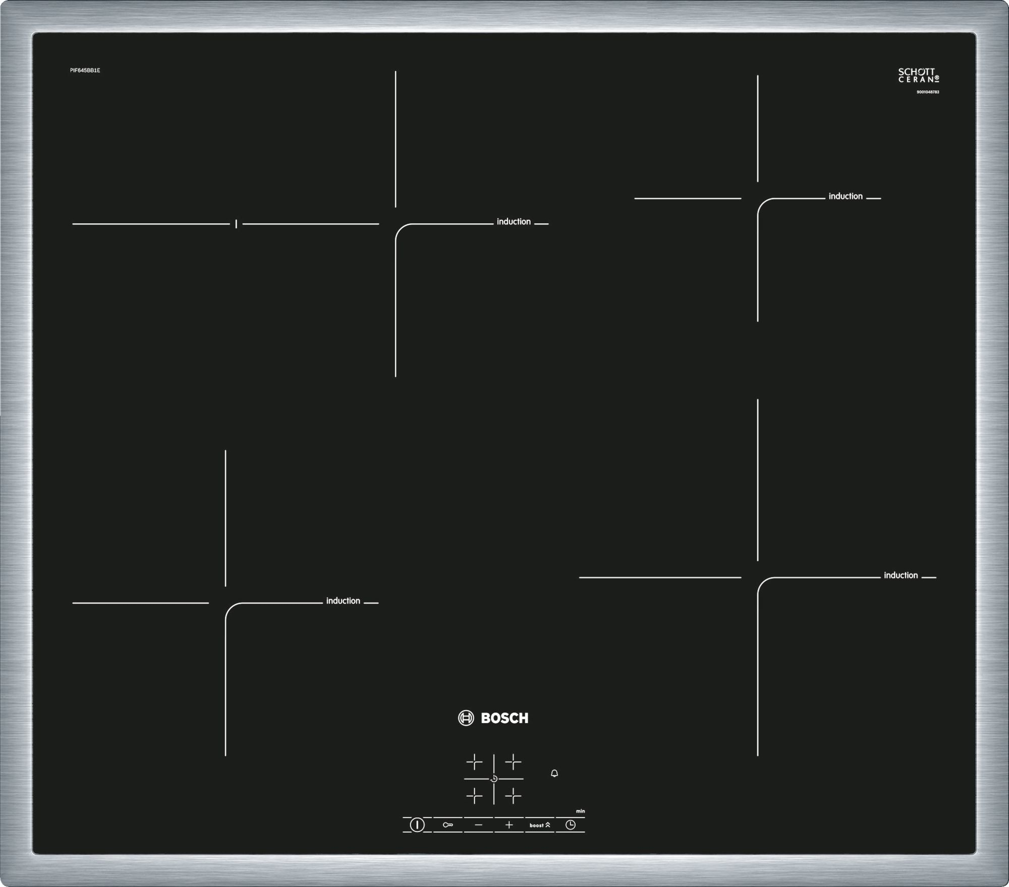 Bosch PIF651FB1E Inductie inbouwkookplaat Zwart