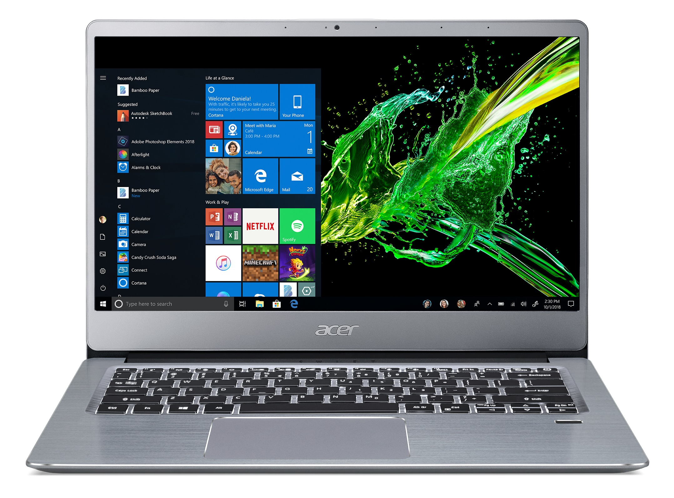 Korting Acer Swift 3 SF314 58 523B laptop