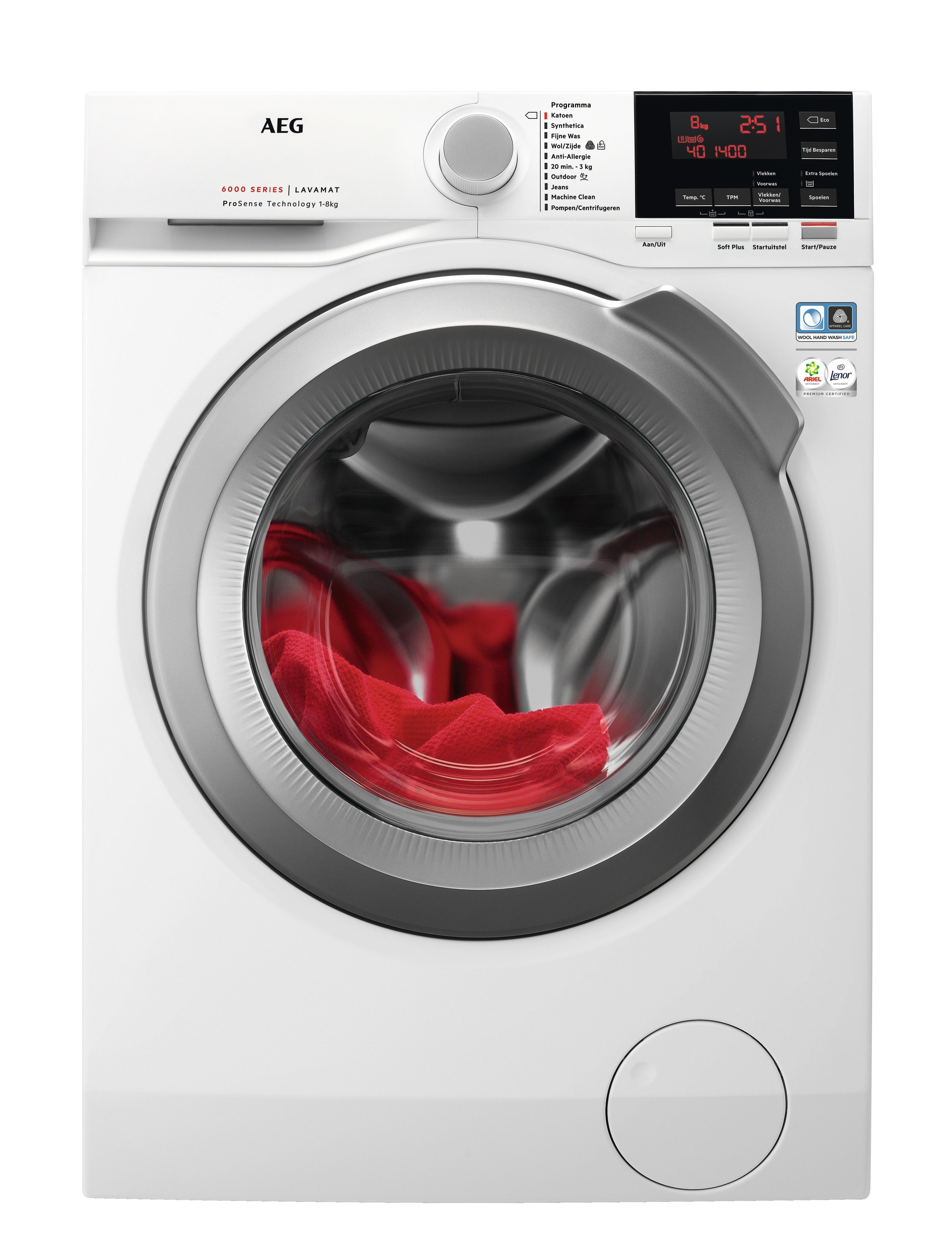 AEG L6FBNR1 ProSense Wasmachine Wit