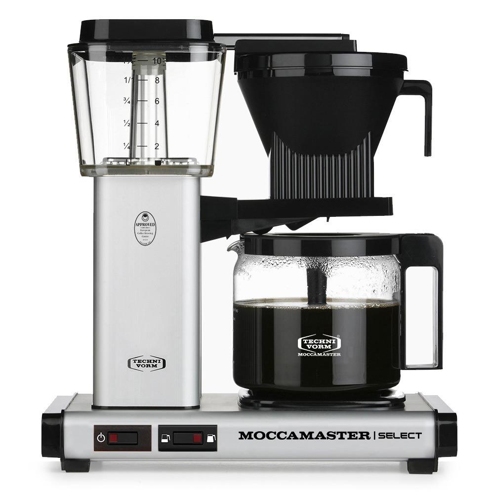 Moccamaster koffiefilter apparaat KBG SELECT mat zilver