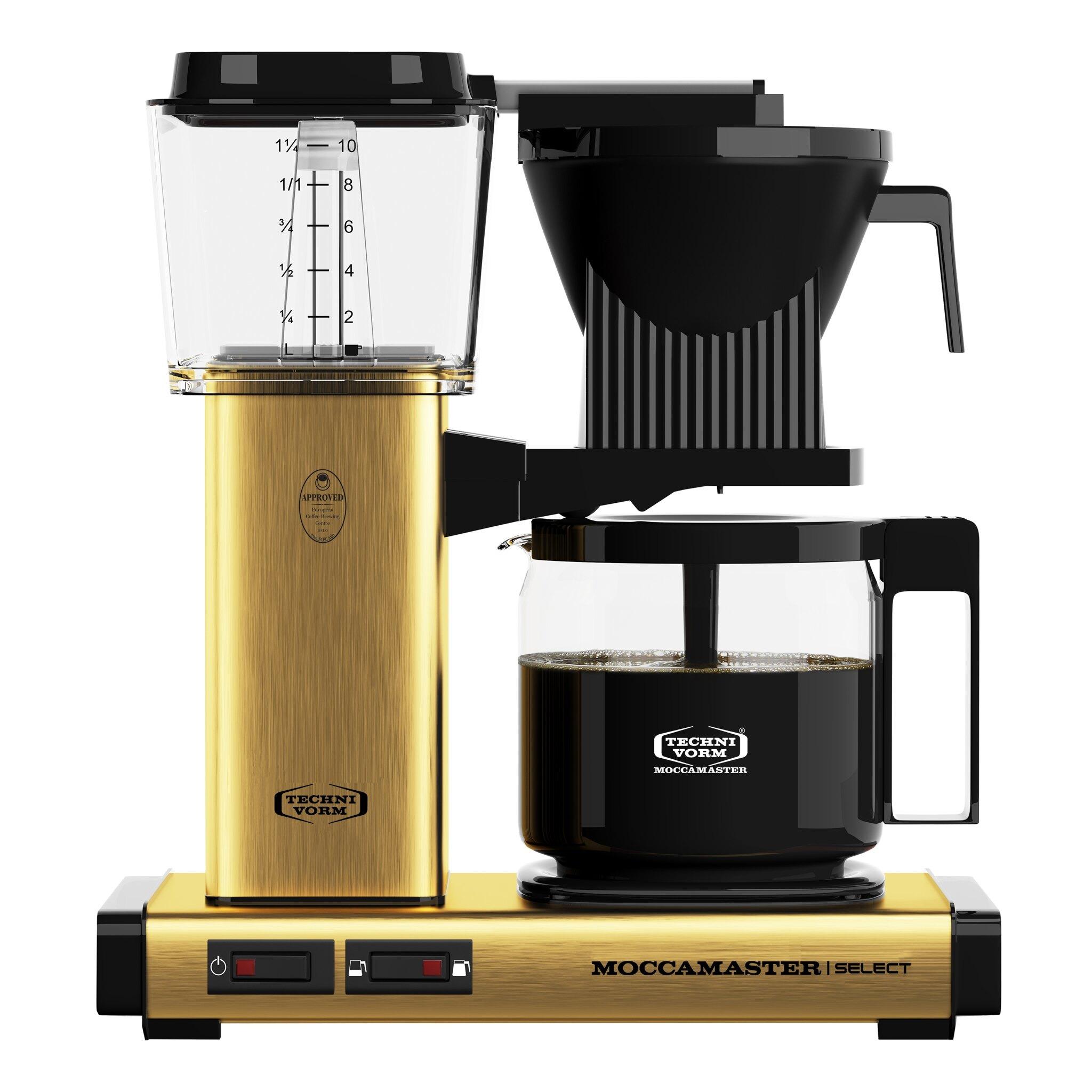 Moccamaster koffiefilter apparaat KBG SELECT goud