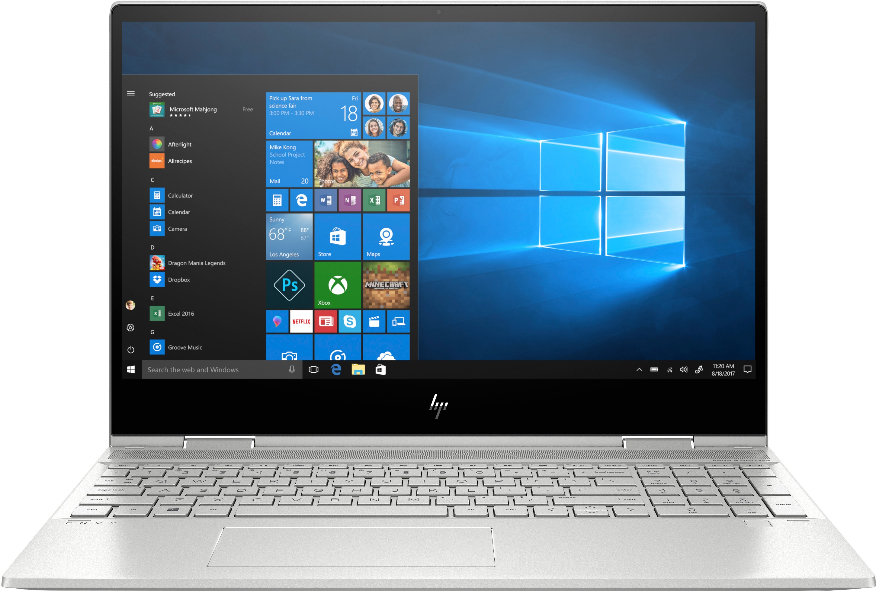 HP laptop ENVY x360 15-dr1300nd - GeForce MX250, 16 GB RAM, 1 TB SSD, 15.6 inch