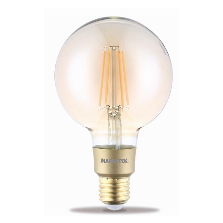 Marmitek GLOW LI - Smart Wi-Fi LED filament bulb L - E27 | 650 lumen | 6 W = 40 W Smartverlichting Transparant