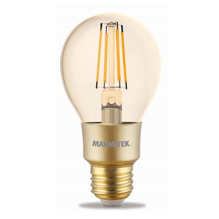 Marmitek GLOW MI - Smart Wi-Fi LED filament bulb M - E27 | 650 lumen | 6 W = 40 W Smartverlichting Transparant