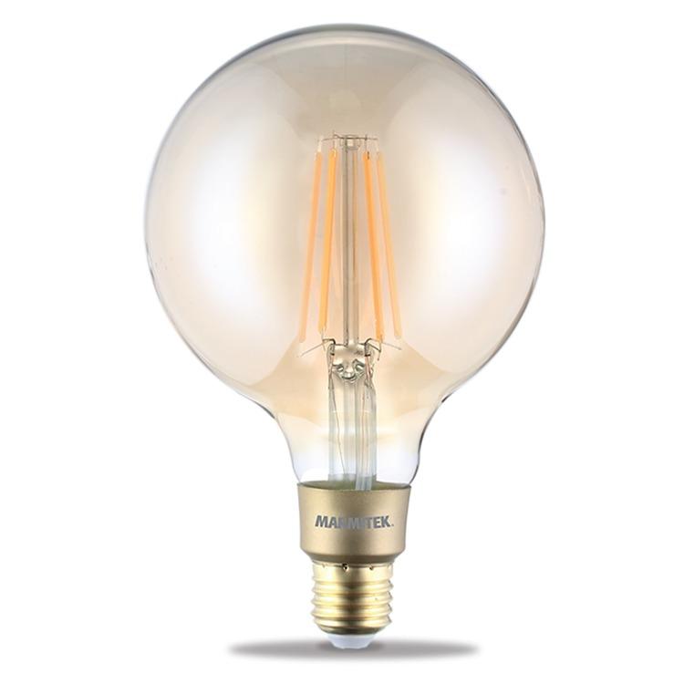 Marmitek GLOW XXLI - Smart Wi-Fi LED filament bulb XXL - E27 | 650 lumen | 6 W = 40 W Smartverlichting Transparant