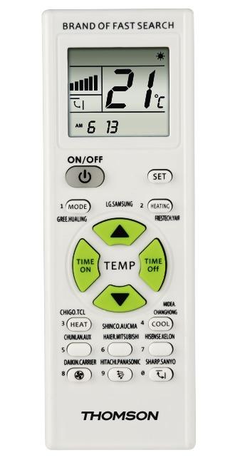 Korting Thomson Universele afstandsbediening voor airco RPC1205 afstandsbediening