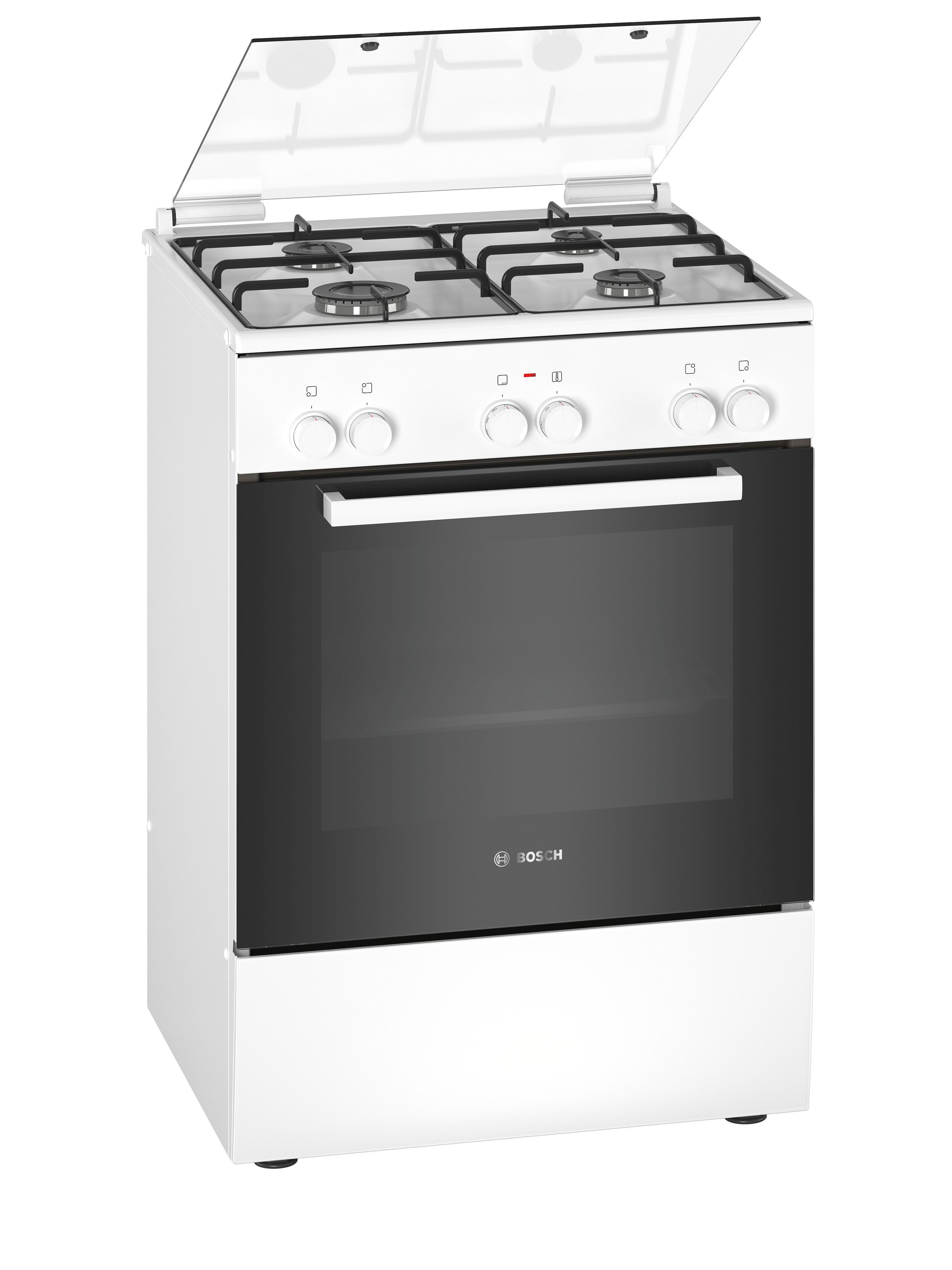Bosch HXA090D20N Gasfornuis Wit