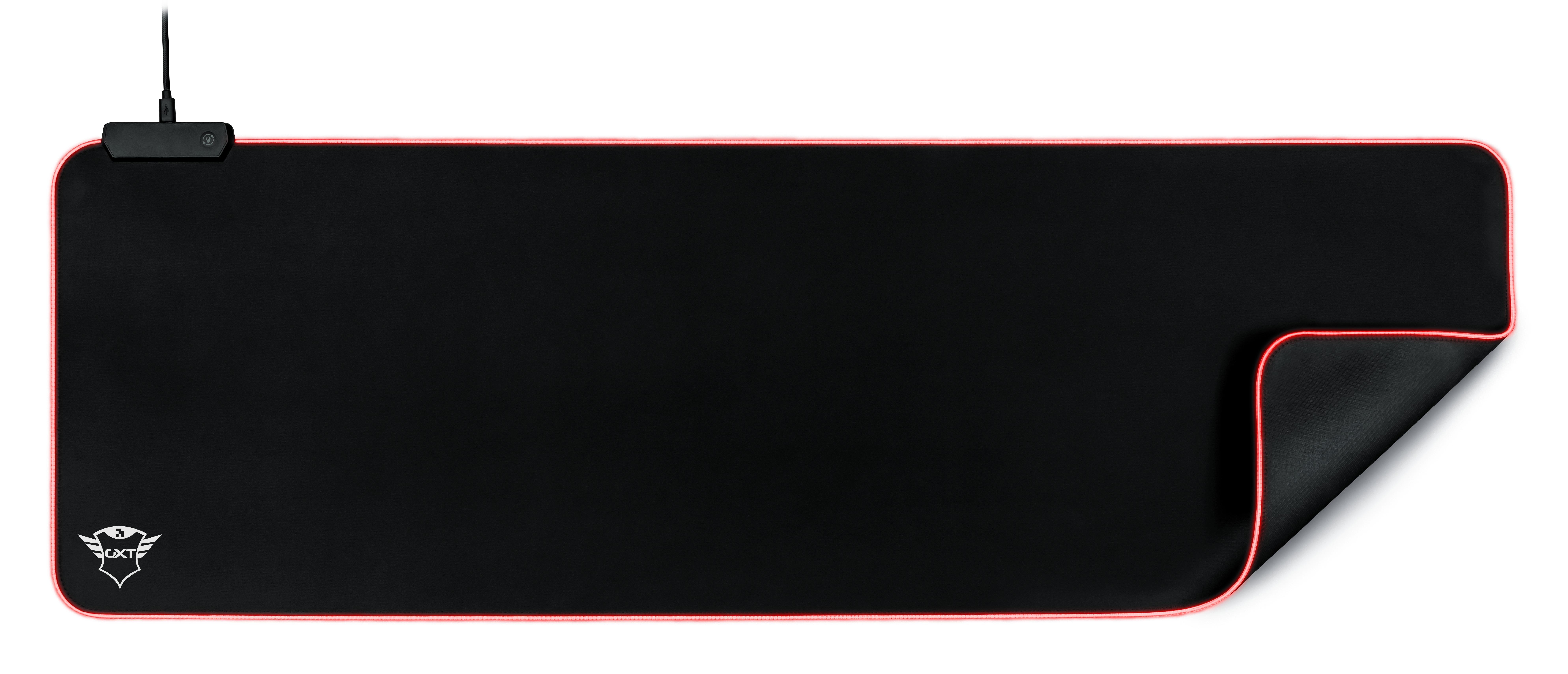 Trust GXT 764 Glide-Flex XXL RGB Muismat Zwart