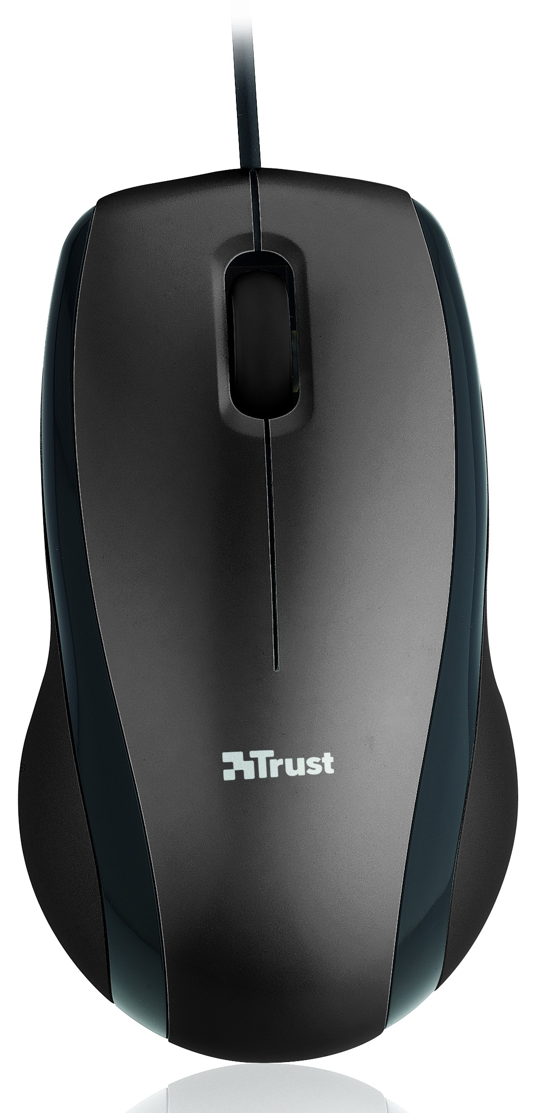 Korting Trust Carve USB Optical Mouse black muis