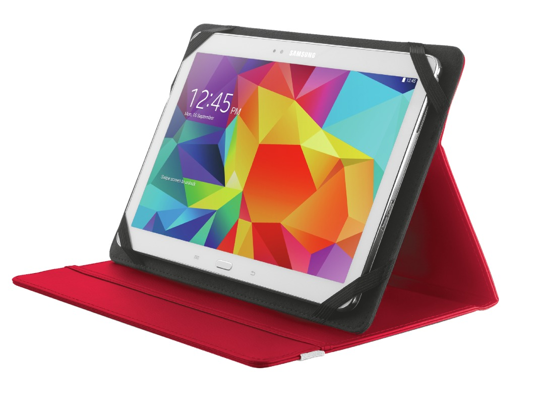 Korting Trust Primo Folio Case with Stand for 10I tablets red tablethoesje