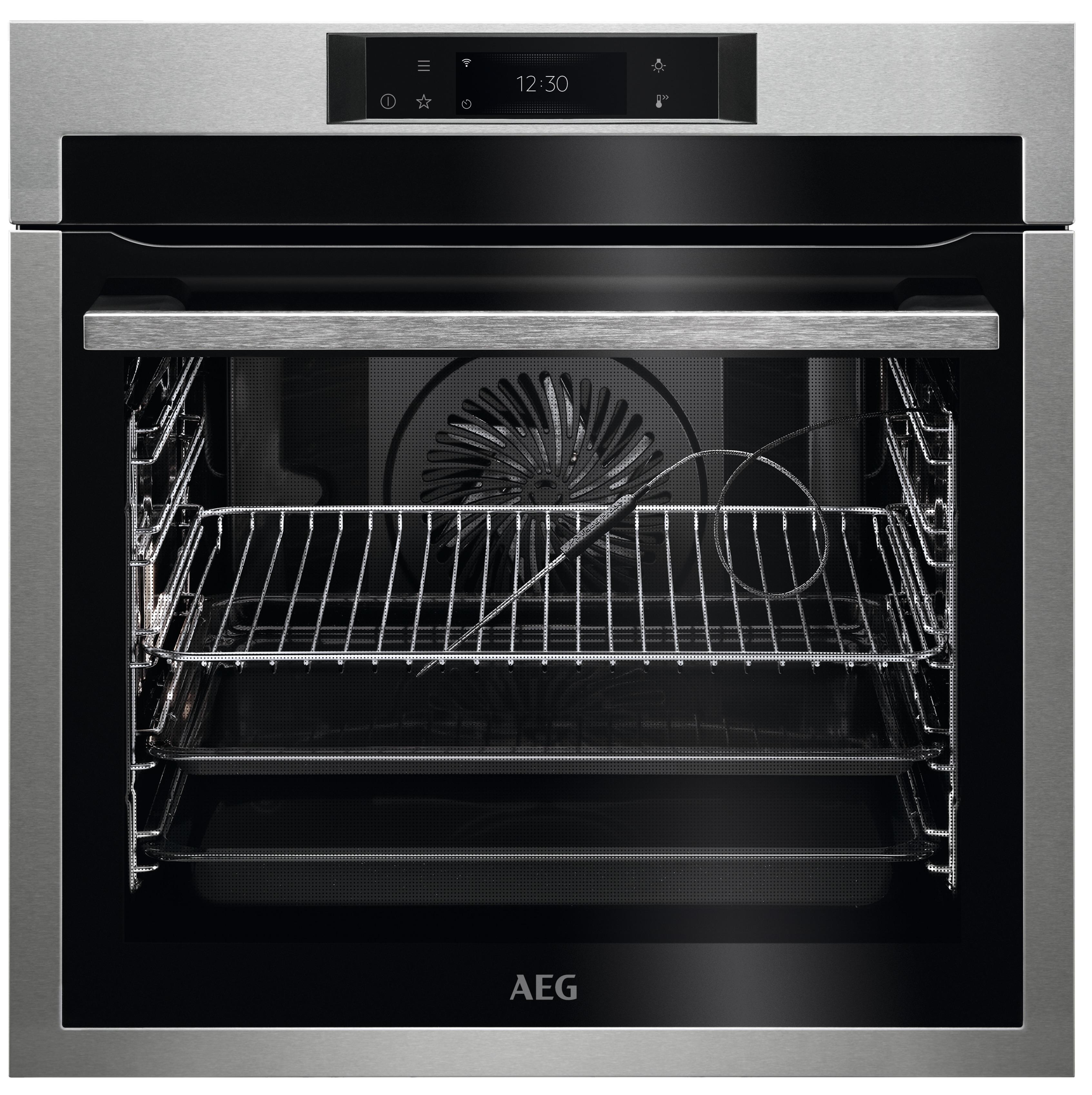 AEG BPE748380M Inbouw oven Aluminium