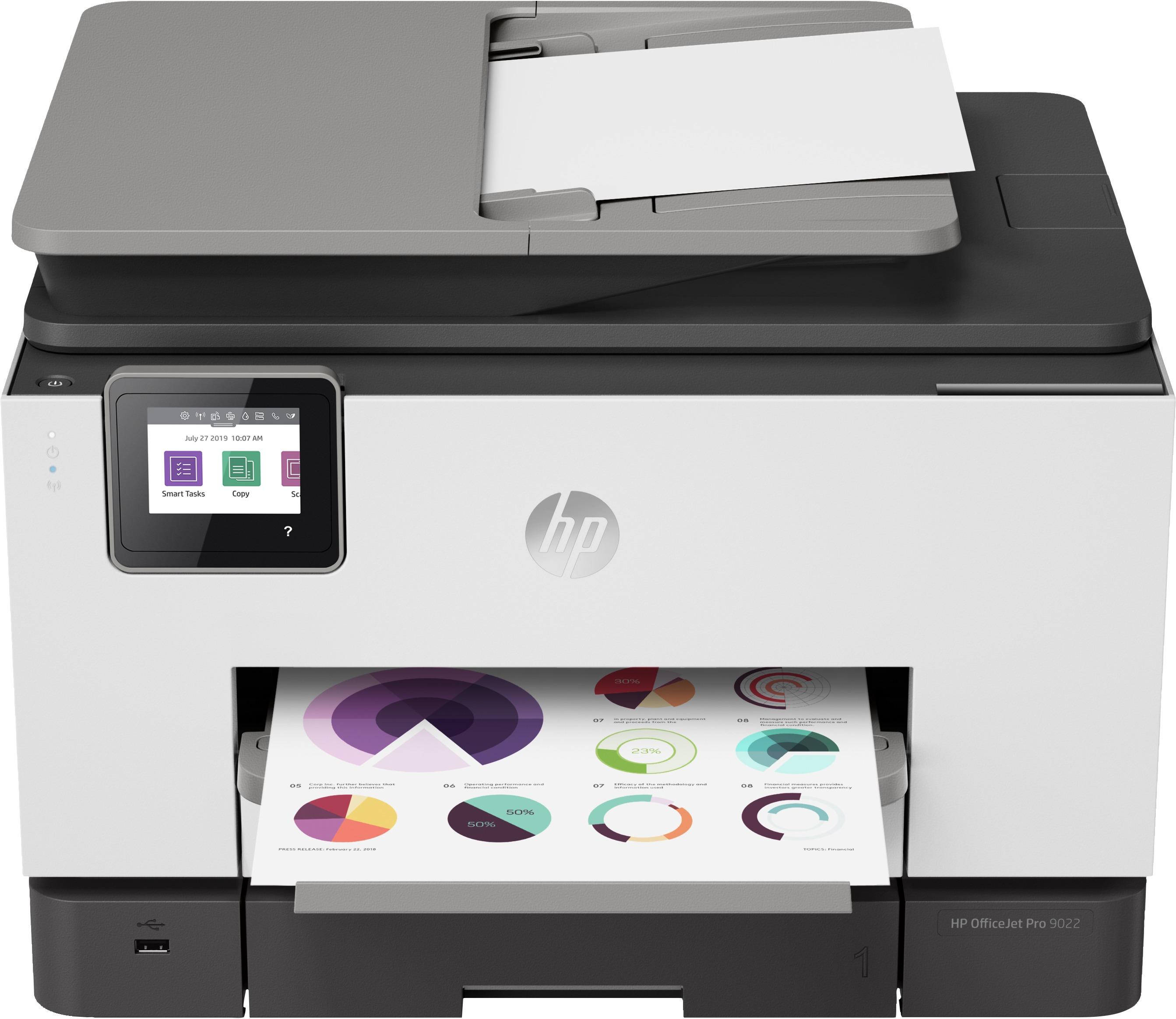 HP Officejet Pro 9022 All-in-one inkjet printer Grijs