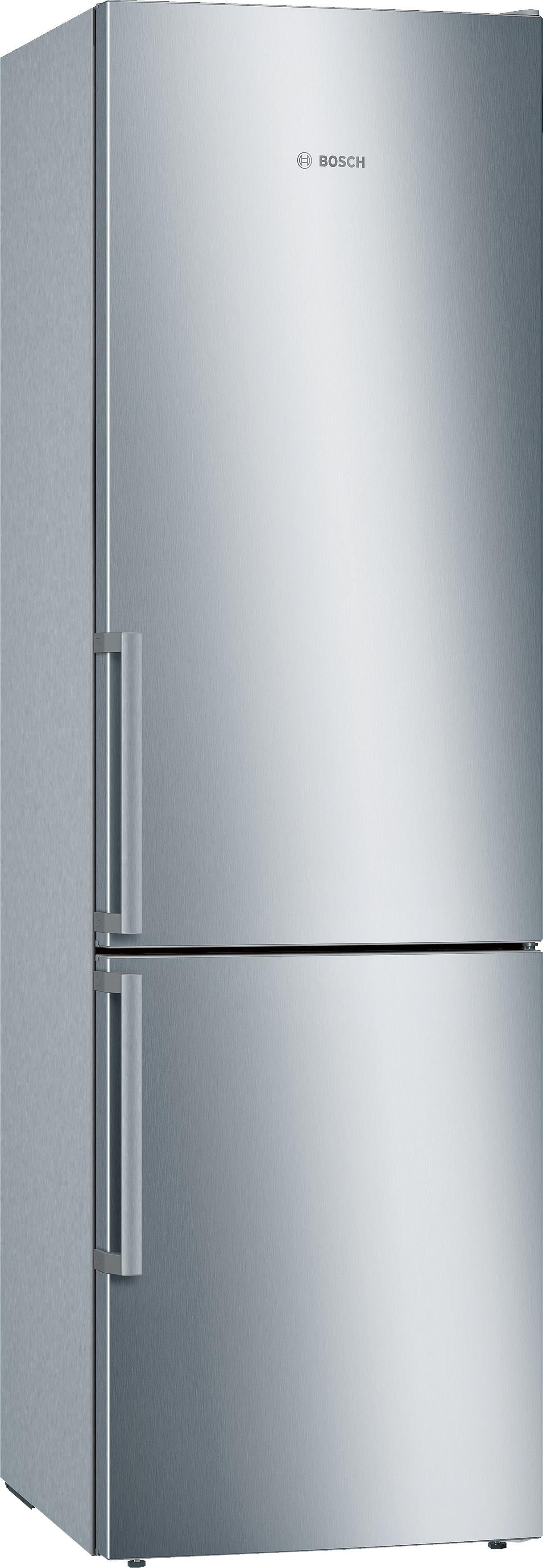 Bosch KGE39EICP Koelkast met vriesvak Aluminium