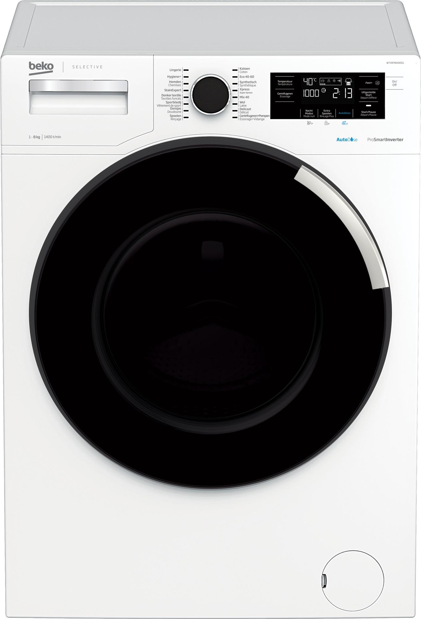 Beko WTV8746XDOS1 Wasmachine