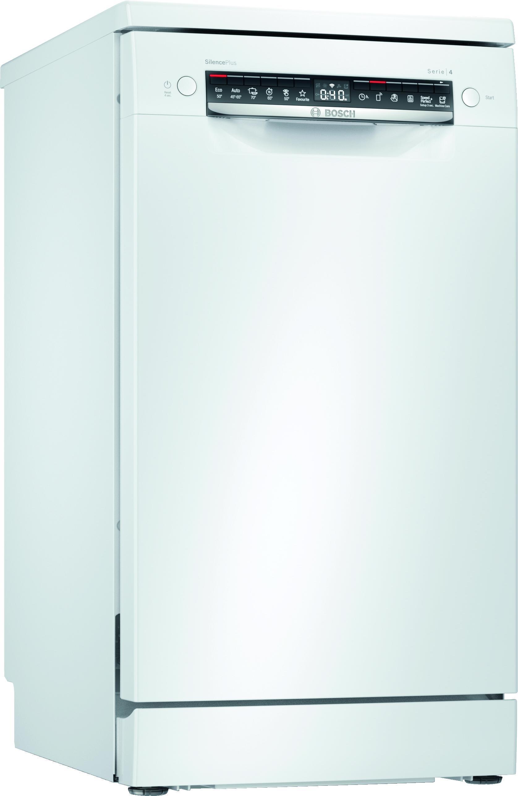 Bosch SPS4EMW28E Vrijstaande vaatwasser Wit