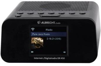 Albrecht DR 450 Hybride radio Zwart